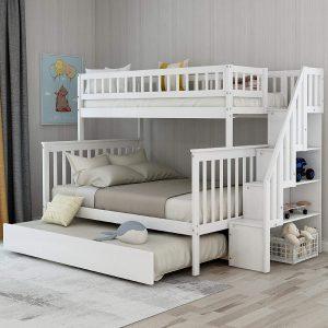 DERCASS Full Stairway Bunk Twin Loft Bed