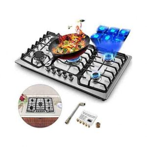 Happybuy Stainless Steel Gas Cooktop
