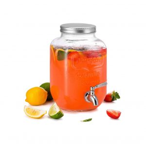 KooK Mason Jar Glass Drink Beverage Dispenser
