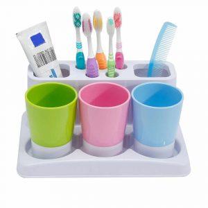 Eslite Toothbrush Holder for Bathroom Storage