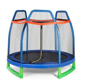 Giantex 7 Feet Kids' Trampoline with Safety Enclosure Net for Indoor:Outdoor Uses