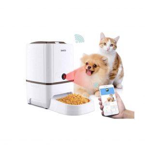 Iseebiz Automatic Cat and Dog Food Dispenser