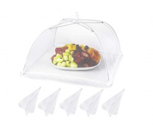 Lauon Food Cover 17×17 inches Collapsible and Reusable Mesh Food Tent
