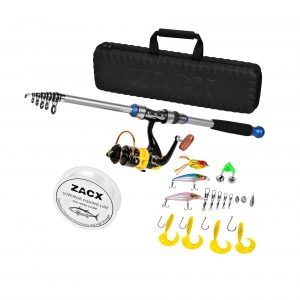 ZACX Telescopic Fishing Rod and Reel