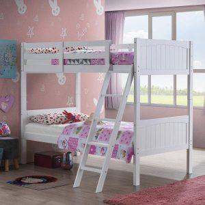 Costzon Wooden Twin Over Loft Bed