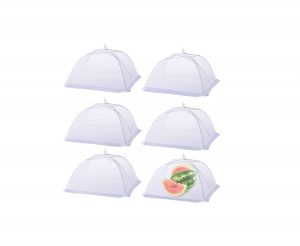 HiGift Food cover Pop-up (6 pack) 17×17 Mesh Screen Food Covers