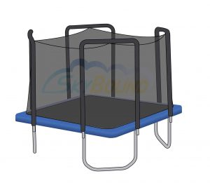Skybound Trampoline with Safety Net Enclosure – Tear & Weather-Resistant