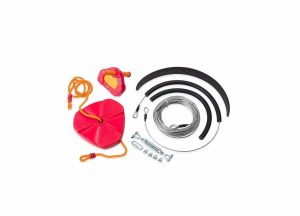 HearthSong 80′ Backyard Zipline Kit – 250 lbs. Weight Capacity