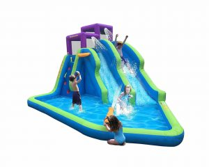 Kahuna Twin Fall Outdoor Inflatable Pool with Slides