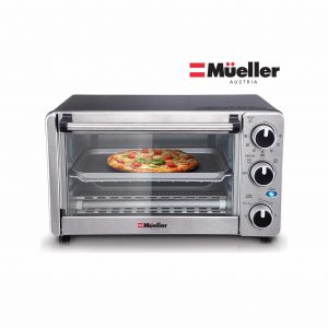 Mueller Austria Multi-functional Stainless Steel Toaster Oven with Timer