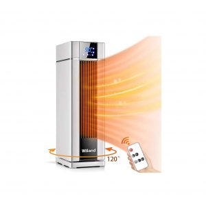 Wiland Space Heater with a Remote Control for Living Rooms and Bathrooms