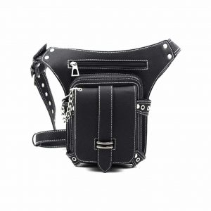 FiveloveTwo Multi-functional Hip Belt PU Leather Tactical Drop Leg Bag