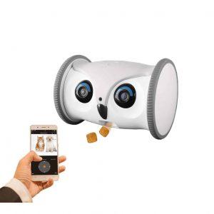 SKYMEE Owl Robot HD Pet Camera with Treat Dispenser