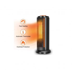 TRUSTECH Space Heater with Thermostat for Indoor Use