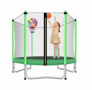 Lovely Snail Trampoline w: Basketball Hoop for Kids