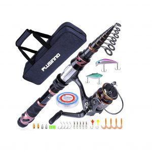 PLUSINNO Fishing Spinning Rod and Reel Combo