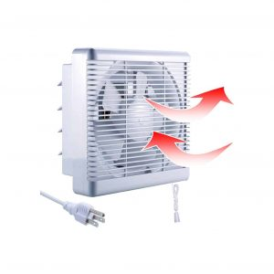 SAILFLO 10-inch Exhaust Shutter Basement Fan