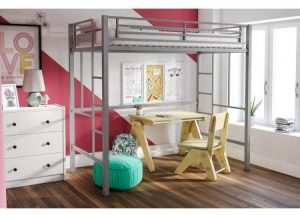 Superindoor Zone Metal Loft Twin Bed
