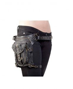 UIYTR Steampunk Retro Waist Bag Motorcycle Bag Drop Leg Bag