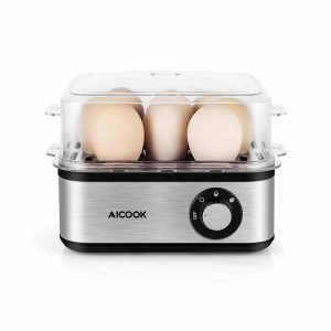 AICOOK 8 Capacity Rapid Electric Egg Cooker