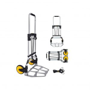 FULLWATT Folding Hand Truck with 264 lbs. Weight Capacity, Telescoping Handle & Rubber Wheels