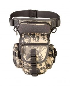 LarKoo Tactical Thigh Leg Waist Drop Leg Utility Pouch for Riding, Cycling, and Outdoors