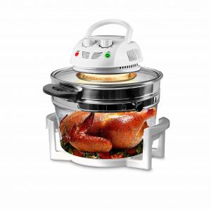 Nutrichef PKAIRFR 48.5 Infrared Convection, Air Fryer for Chips and French Fries (White)