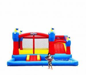 Blast Zone Misty Kingdom Inflatable Pool with Slides