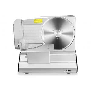 CUSIMAX Meat Slicer 7.5 Inches Detachable Stainless Steel Blade