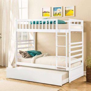 Merax Twin Over Solid Wood Buk Loft Bed