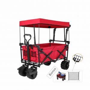Tintonlife Push and Pull Collapsible Utility Wagon