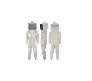 SRVG 3X Layer Ultra Ventilated Safety Beekeeping Suit with Free Gloves