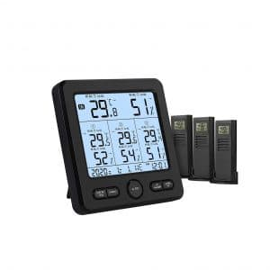 AIOMEST Wireless Thermometer Hygrometer with Sensors