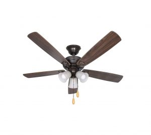 Hykolity 52-Inches LED Indoor Oil-Rubbed Ceiling Fan