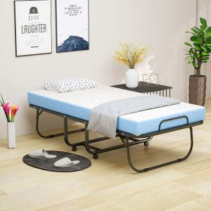 Mecor Foldable Bed with 4″ Removable Mattress -Twin Size