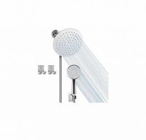 Siyzda 8 Inch Shower Head Stainless Steel Handheld Shower Head Set Combo, Chrome