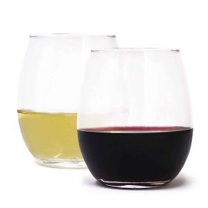 ROYAL Zeppoli 4-Piece Stemless Wine Glass Set