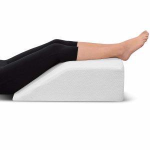 Ebung Leg Elevation Knee Pillow with Memory Foam Top