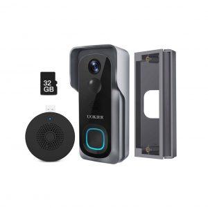UOKIER WiFi Video Wireless Security Doorbell Camera with 2-Way Audio