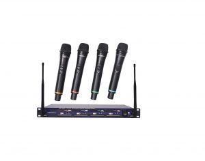 VocoPro Professional Rechargeable 4-Channel Wireless Microphone