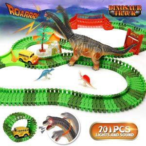 URTOYPIA Dinosaur Toys Race Car Track