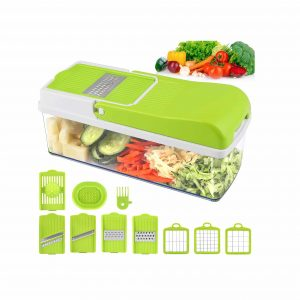 MOICO Vegetable Chopper with 8 Multi-Functional and Interchangeable Blades