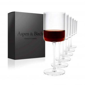 Aspen & Birch Modern Wine Glasses