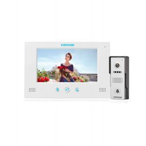 VANSOALL 7 inches LCD Monitor Video Door Home Security Systems