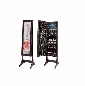 Best Choice Products 6-Tier Standing Mirrored Cabinet