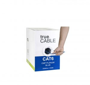TrueCABLE Plenum 1000FT 23AWG Cat6 Cable