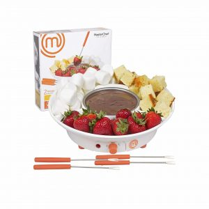 MasterChef Deluxe Electric Chocolate Dessert Fondue Maker with 4 Forks