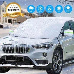 AMeek Windshield Snow Cover with Mirror Cover for Cars