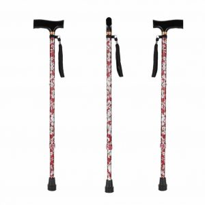 LIXIANG Medical Adjustable Cane with a Rubber Tip Base, Red