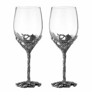 SEMAXE 12 Oz Wine Glasses Set of 2